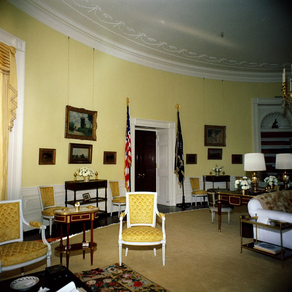 White House Rooms Yellow Oval  John F Kennedy