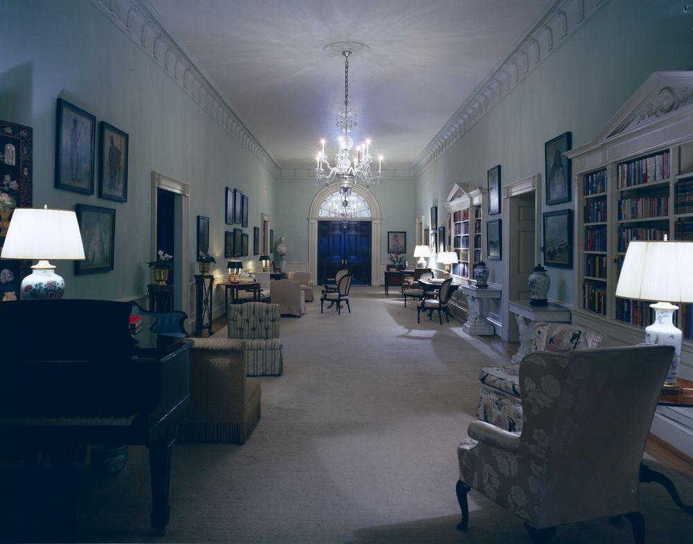 White House Rooms SecondFloor Center Hall  John F