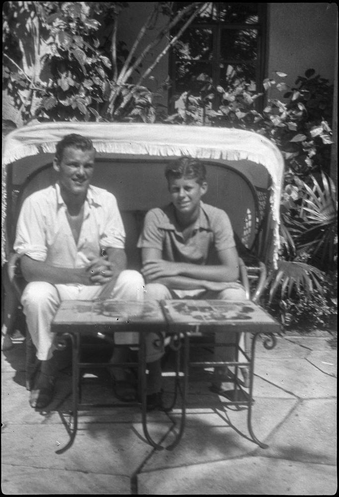 KFC578N John F Kennedy and Kirk LeMoyne Lem Billings