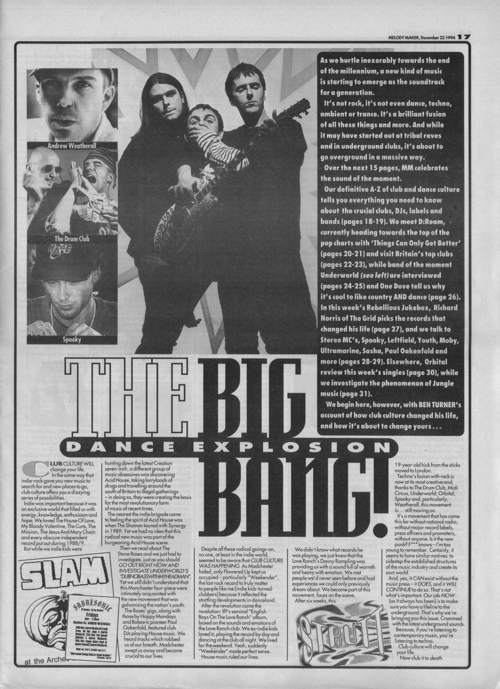 The Big Dance Explosion Bang, 22nd January 1994
