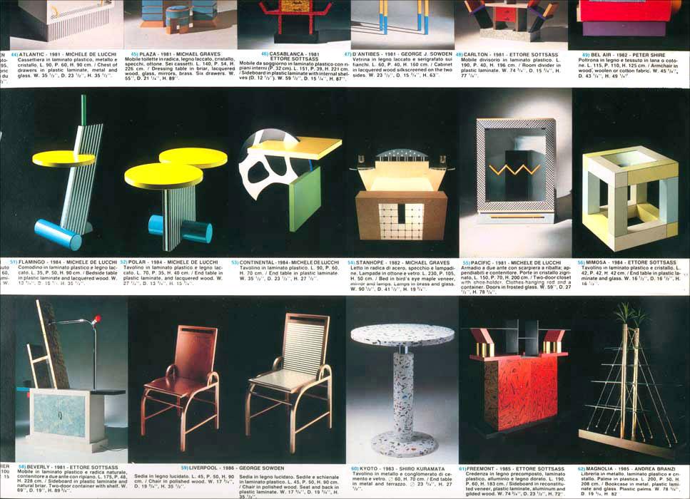 MEMPHIS Group  Ettore SOTTSASS