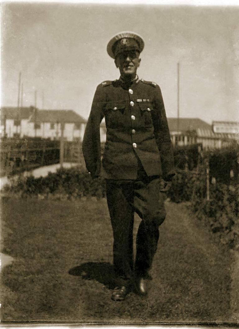 Frank Chapman in his garden