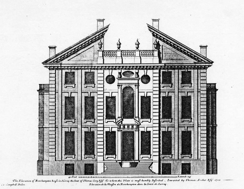 Elevation of Roehampton House