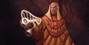Un Aeon Priest armé d'un Numenera.