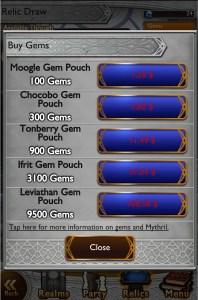 FFRK Gems