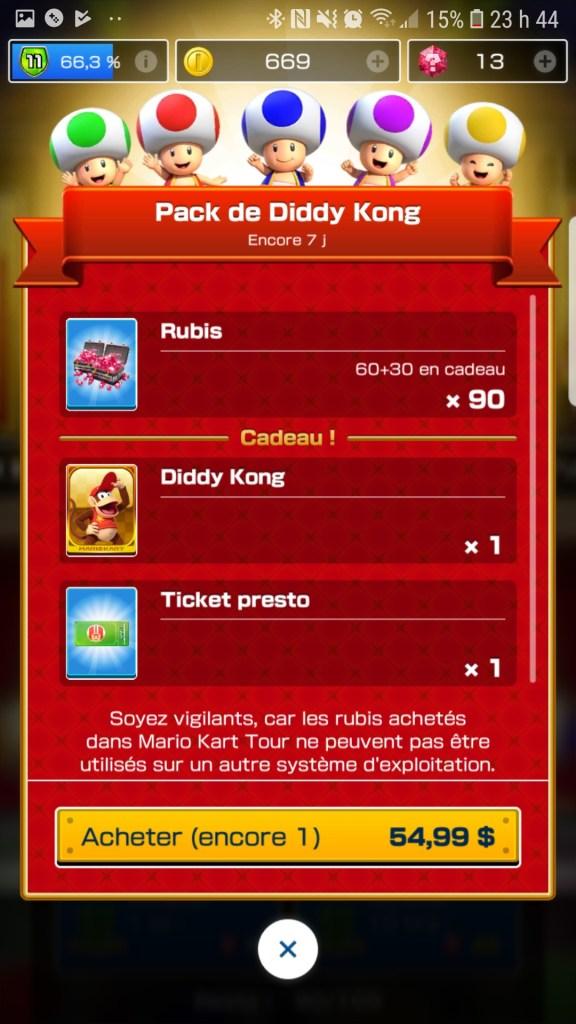 Mario Kart Tour : Diddy Kong