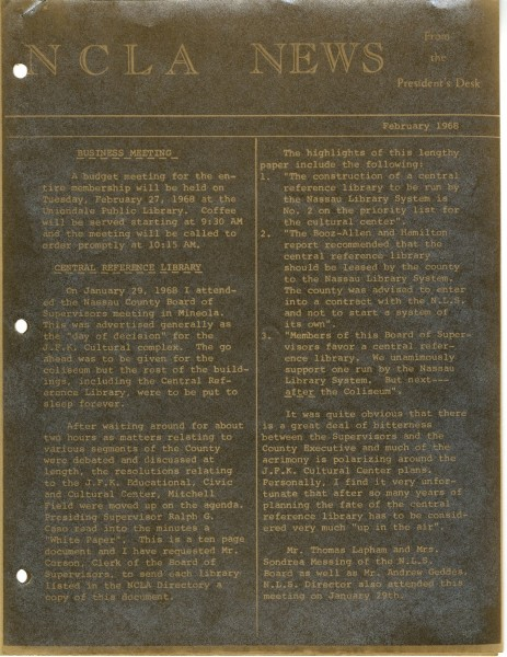 NCLA News, 1968