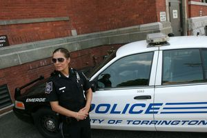 Torrington police officer Madelyn Farfan is the new school resource officer stationed at Torrington High School. Jim Moore Republican-American