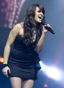 American Idol finalist Katie Stevens performs in July during the American Idol Live! Tour 2010 concert at the Mohegan Sun Arena in Uncasville. Jim Shannon/RA