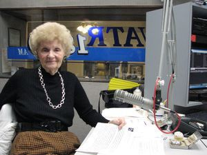 Polish Eagles Radio Program host Sophie Zembruski on her 90th birthday. Zembruski died Sunday. She was 92. Contributed photo