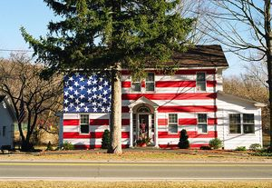 The Flag House in Kent, as captured by photographer Robert Carley, will be on display from Sept. 1 through Oct. 31 in the Gallery at the Kent Memorial Library. CONTRIBUTED