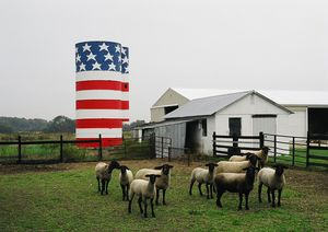 A flag silo in Delaware is one of the photographs by Robert Carley that will be on display from Sept. 1 through Oct. 31 in the Gallery at the Kent Memorial Library. CONTRIBUTED