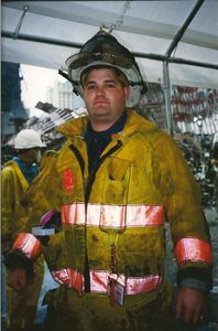 Jason Wilson, a Salisbury firefighter, in his turnout gear. Contributed