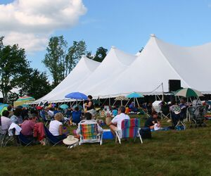 The Litchfield Jazz Festival lawn at the Goshen Fairgrounds. Credit: Antonio Monteiro