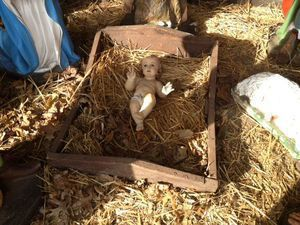 City resident Fay Renzullo donated this Baby Jesus to the Parks and Recreation Commission, to replace one stolen and smashed by teens. Republican-American archive