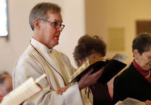 The Rev. Jack Gilpin of Roxbury is ordained at St John's Episcopal Church in New Milford. Christopher Massa Republican-American