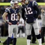 Tom Brady, Wes Welker (AP photo)