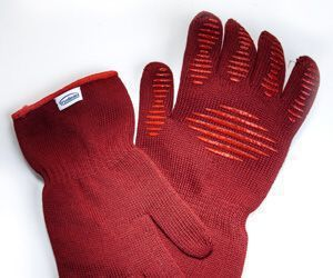 Get a grip on hot stuff (up to 482 degrees F) with these Kitchen Gloves from Trudeau. They're heat- and flame-resistant, so are good for prolonged handling of hot items. (Bill Hogan/Chicago Tribune/MCT)