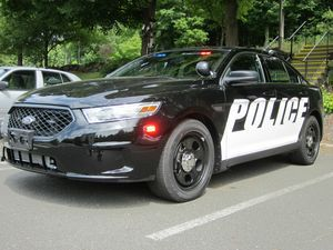 One of two new police cruisers recently acquired by the Woodbury Police Department. RA Archive