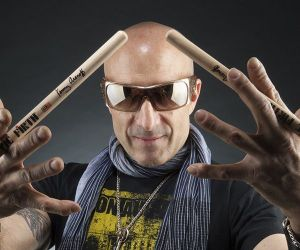 Rock drummer Kenny Aronoff will perform at the Mahaiwe Theater in Great Barrington, Mass., Aug. 23 as part of the Storytellers series offered by the theater this summer. Aronoff will also conduct a masters class that afternoon. Credit: contributed