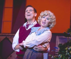 Rick Fountain and Marcia Maslo star in 'Nice Work If You Can Get It at the Warner Theatre in Torrington. Credit: Luke Haughwout/Mandi Martini