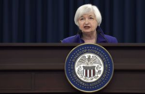 Federal Reserve Chair Janet Yellen speaks during a news conference in Washington Dec. 16, following an announcement that the Federal Reserve raised its key interest rate by quarter-point, heralding higher lending rates in an economy much sturdier than the one the Fed helped rescue in 2008. (AP Photo/Susan Walsh)
