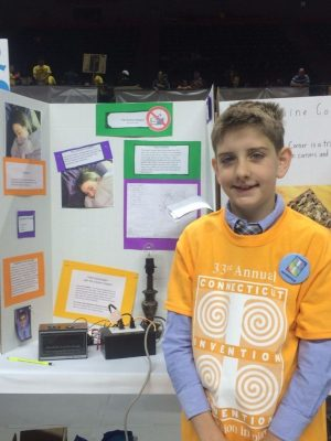Contributed  Tim Nunn, a fifth-grader at Flanders Elementary School in Southington, and his Snooze Stopped invention are entered in the first National Invention Convention in Washington, D.C..  He is headed to the National Invention Convention and Entrepreneurship Expo in Washington.
