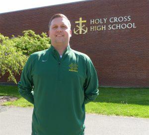 Holy Cross boys basketball coach Ryan Olsen (Joe Palladino/RA)