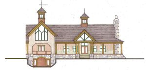 An architect's rendering shows the new winery approved for Hidden Breeze Farm in Watertown. Contributed