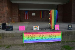 The Waterbury LGBTQ community and their allies rallied together Thursday night for a vigil held to remember the victims of the Orlando shooting. Jacqueline Stoughton Republican-American