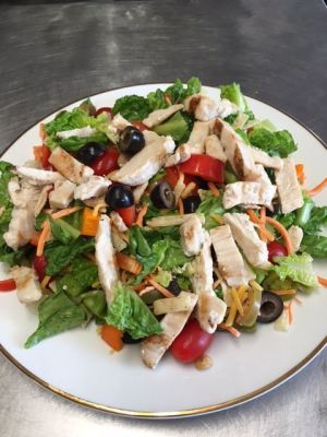 Fresh garden salad with chicken is on the menu. Michele Morcey