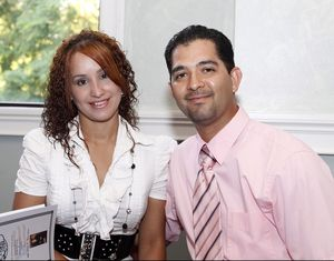 Ruben Rodriguez and his wife, Mara Borrero, of Waterbury. Rodriguez is the Republican candidate for the 72nd House District Christopher Massa Republican-American