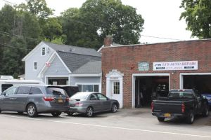 The building that once housed William B. Johnson's Harley-Davidson dealership on Route 202 in Somers, N.Y. is now an auto repair business. (Bud Wilkinson / Republican-American)