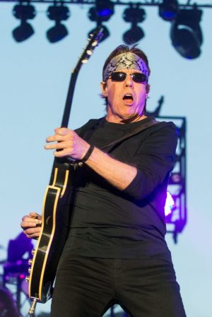 George Thorogood, shown playing during the 2015 Stagecoach Festival in California, plays at the Big E on Saturday, Oct. 1. (Photo by Paul A. Hebert/Invision/AP)