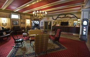 The Yankee Pedlar Inn in downtown Torrington's lobby preserves the look of the era it was built, 123 years ago. Jim Shannon Republican-American