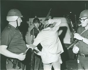 Republican-American archives A man is detained during a violent uprising in 1969.   More photos at rep-am.com