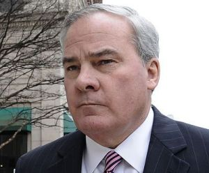 In this April 11, 2014, photo, former Connecticut Gov. John G. Rowland arrives at federal court in New Haven. (AP Photo/Jessica Hill, File)