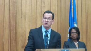 Gov. Dannel P. Malloy discusses his reasons for issuing an executive order banning executive branch agencies and public institutions of higher education from using state funds to pay for travel to Indiana and other states with similar religious freedom laws. Paul Hughes/RA