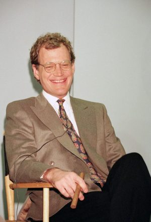 Late night talk show host David Letterman is seen at a news conference announcing his move to CBS, Jan. 15, 1993. (AP Photo/Alex Brandon)
