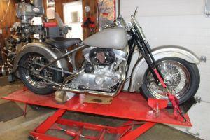 The 1998 Harley-Davidson Sportster that Eric Pleil is giving an old school look. Bud Wilkinson Republican-American