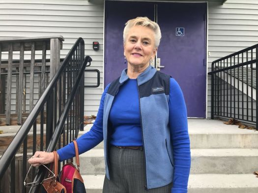 Cheshire resident Jane Quinn after voting at Artsplace in Cheshire on Tuesday. Ajhani Ayres Repulican-American