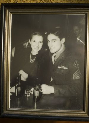 Marine veteran Theodore R. Marolda of Winsted with his wife, Margaret, in New York City on their three-day honeymoon in 1945. Jim Shannon Republican-American
