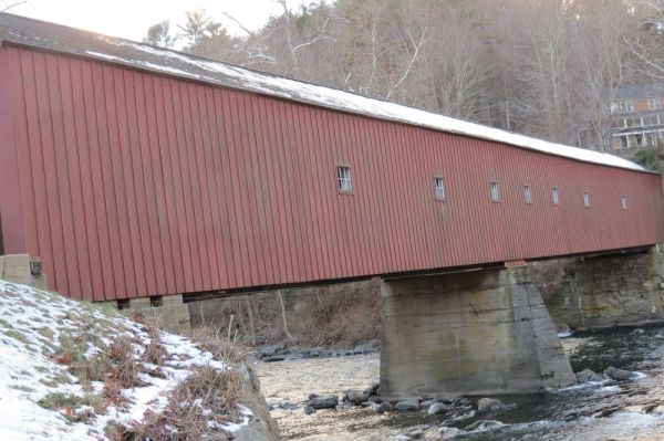 The steel decking under the iconic West Cornwall Covered Bridge, which first opened in 1841 and was last overhauled in the 1970s, needs replacing. The project will result in the bridge and part of Route 128 being closed for 29 days beginning on Sept. 4, 2018. Ruth Epstein Republican-American