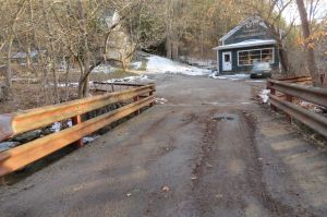 The Smith Place Bridge in West Cornwall is being looked at for replacement or elimination. If eliminated the driveway leading to the few houses would be rerouted to Railroad Square. Ruth Epstein Republican-American