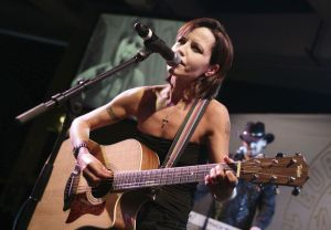 Music fans are mourning Cranberries lead singer Dolores ORiordan, shown here in 2008 during the European Border Breakers awards, in Cannes, southern France. Associated Press