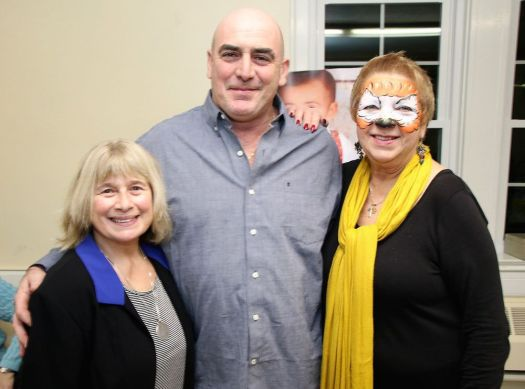 Joe Gregory of Morris with Rose Buckens, left, of Morris, and Jo Ann Jaacks of Litchfield, the organizers of a dinner held to benefit Gregory's family. John McKenna Republican-American