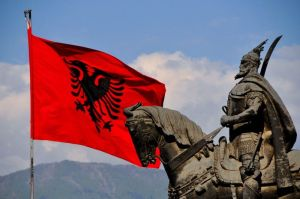 Local Albanians prepare to celebrate the
