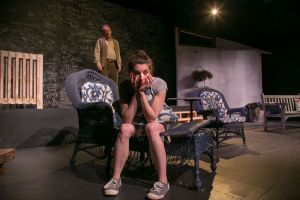 Contributed Viv Berger, left, and Anna Fagan rehearse a scene from 'Proof,' playing at TheatreWorks New Milford from Friday through March 10.