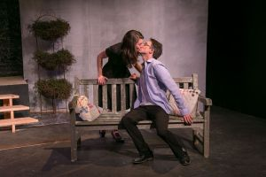 Anna Fagan and Daniel Basiletti rehearse a scene from 'Proof,' playing at TheatreWorks New Milford from Friday through March 10. Contributed
