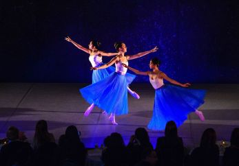 From left, Maya Kumar, Lydia Davidowitz, and Risa Kawaji perform a ballet routine Sunday in Westover School's Dance Program concert at the school's Middlebury campus.Bill Shettle Republican-American
